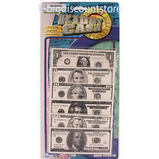 90Pcs PLAY MONEY Kids Toy Kiddy Cash Paper Dollar Bills Fake Bank Games Gift