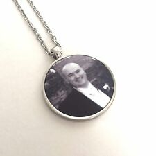 Memory Pendant & Chain - Silver Necklace Jewellery Photo Plaque with Any Image