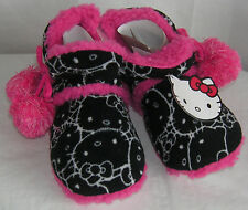 Hello Kitty Slipper Boots BLACK POMS VALENTINE GIFT FREE SHIPPING MEDIUM 7-8