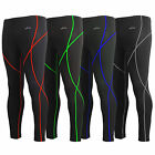 Emfraa Mens Womens base layer compression skin tights full pants S~2XL
