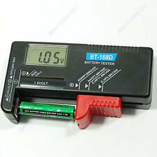 New Digital LCD 1.5V AAA AA R03 9V PP3 6F22 Battery Tester