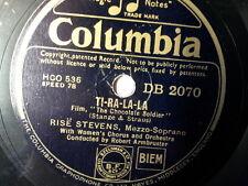 """78 rpm 10"""" RISE STEVENS ti-ra-la-la / NELSON EDDY"""