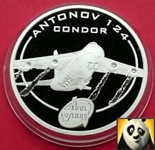 2008 COOK ISLANDS $1 DOLLARS ANTONOV 124 SILVER PROOF COIN HISTORY OF AVIATION