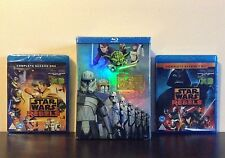 Star Wars:The Clone Wars:1-5 (C.Edition) + Star Wars Rebels season 1 & 2 Blu-ray