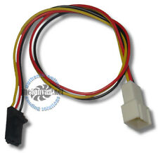 "Standard 3 pin Fan Cable to Dell Latch Style 3 pin adapter! 10"" Long!"