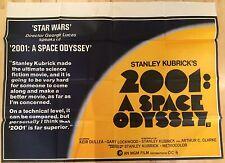 2001 A Space Odyssey Original British Movie Quad UK Film Poster Re Release