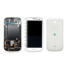 White Samsung Galaxy S3 T999 I747 LCD Touch Digitizer Screen Assembly Back Cover