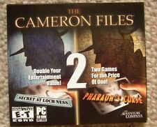 Cameron Files 1 + 2  Pharaoh's Curse + Secret at Loch Ness New Sealed - PC Game