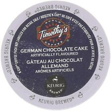 48 Count - Timothy's German Chocolate Cake Flavored Coffee K-Cup For Keurig B...
