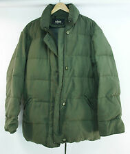 Womens UTEX Goose DOWN Hooded COAT Fur LINING Medium OLIVE