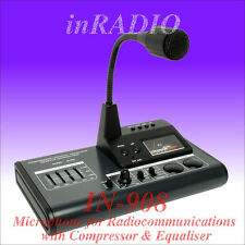 INRADIO IN-908 - TOP MICROPHONE with AMPLIFIER EQ & COMPR for ICOM KENWOOD YAESU