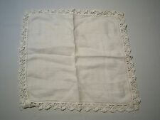 Vintage Classic White Lace Cloth Handkerchief