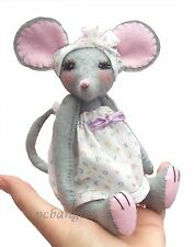 Miss Stitch soft toy felt mouse sewing kit by pcbangles