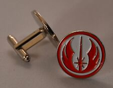 Star Wars Red and White Jedi Order Emblem Quality Enamel Cufflinks