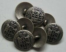 8pc 20mm New Zealand Inspired Pewter Colour Metal military Button  2277