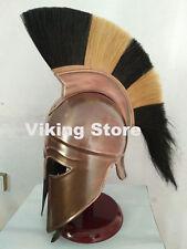Medieval Greek Corinthian Helmet w/ Red & Nechural Plume Athenian Spartan