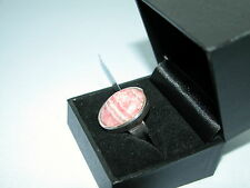 Lote 80 impresionantes Oval RHODOCROSITE SÓLIDO STERLING SILVER RING Size 1/2