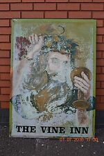 20th century vintage hand painted double sided pub sign The Vine Inn