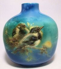 Beautiful Royal Doulton YOUNG MAGPIE Titanian Ware Vase Signed F. Henri ca.1915