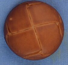 22mm Fake Tan Leather Button