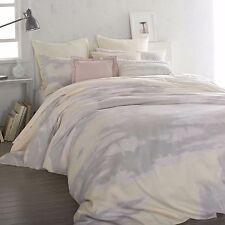 DKNY MIRAGE BUTTER 2PC SET, 1 TWIN DUVET COVER 1 STANDARD SHAMS GREY YELLOW