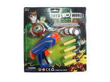BEN 10 ALIEN FORCE SOFT BULLET GUN EVA & SHOOTING DISC WATCH BRAND NEW TOY