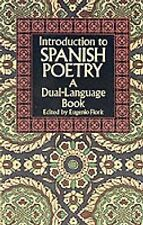 Introduction to Spanish Poetry: A Dual-Language Book by Dover Publications...