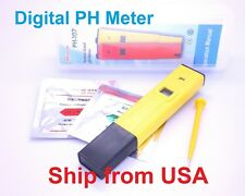 Digital pH Pocket Pen meter tester for Aquarium Pool with calibration solution
