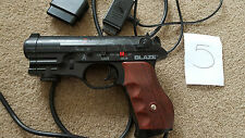 PLAYSTATION 1 2 PS1 PS2 LIGHT GUN BLASTER PISTOL Black Scorpion II sega saturn 5