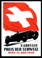 -A3 Size- Swiss 1938 - Motor Car Racing Vintage Poster #09