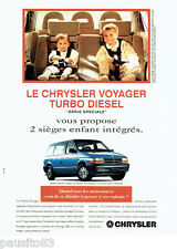 PUBLICITE ADVERTISING 056  1994   le Chrysler Voyager TD Série speciale