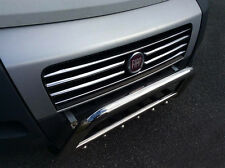 CHROME FRONT GRILLE ACCENTS TRIM SET COVERS S.STEEL FOR FIAT DUCATO GRILL 06-14