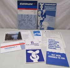 Lot of Evinrude Outboard Owners Manual Dealer Service Fuel Efficiency Guide Plus