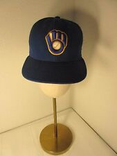 New Era Milwaukee Brewers Cap Hat MLB Size 7 1/4 Blue Official On Field Cap