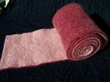 1m Wollvlies rot rosa  2Ton 15cm Filz Wolle Vlies Topfband Filzband Wollvlies