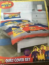 THE WIGGLES BIG RED CAR SINGLE bed QUILT DOONA DUVET COVER SET NEW