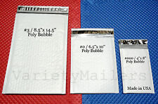 9 POLY BUBBLE POSTAL MAILING  ENVELOPE VARIETY COMBO  ~ 3 SIZES ~ PADDED MAILERS