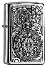 NEUHEIT 2016 ZIPPO Feuerzeug POCKET WATCH High Polished Chrome Taschenuhr NEU
