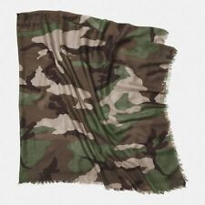 NWT Coach Printed Camo Camouflage Oversize Square Scarf F85269