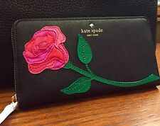 Kate Spade Rose-Colored Glasses ROSE Appliqué LACEY Wallet NWT $198 sold out!