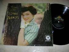 CONNIE FRANCIS My Thanks To You US MGM ORIGINAL