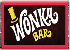 A4 Willy Wonka Bar  ** EDIBLE WAFER PAPER **  Charlie And The Chocolate Factory