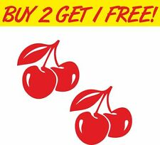 2 x Cherry Graphic Camper 4x4 Cars Decal Windows Funny Sticker Graphic Vinyl Car