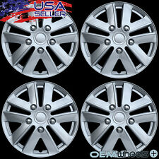 "4 NEW OEM SILVER 16"" HUB CAPS FITS VOLKSWAGEN VW CAR ABS CENTER WHEEL COVERS SET"