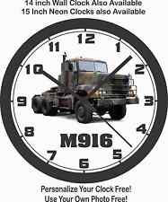 M-916 MILITARY VEHICLE TRANSPORTER WALL CLOCK-ARMY, MARINES