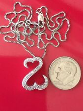 $229 Kay Jewelers 925 S/S 1/8ctw Diamond Jane Seymour Open Heart Necklace 18""