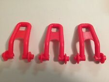 Evenflo Exersaucer Lot of 3 Red Replacement Stabilizer Feet VGUC