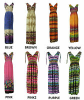COLLECTION LONDON Womens Ladies Summer Print Long Gown Summer Party Maxi Dress
