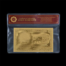 "Malaya & British Borneo $10  "" Buffalo "" 24K Gold Plated Banknote"