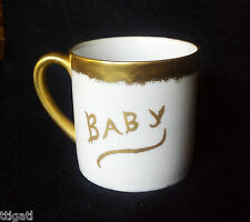 Baby Cup Christening Mug Antique 1919 Nursery Infant Gift Hand Painted Porcelain